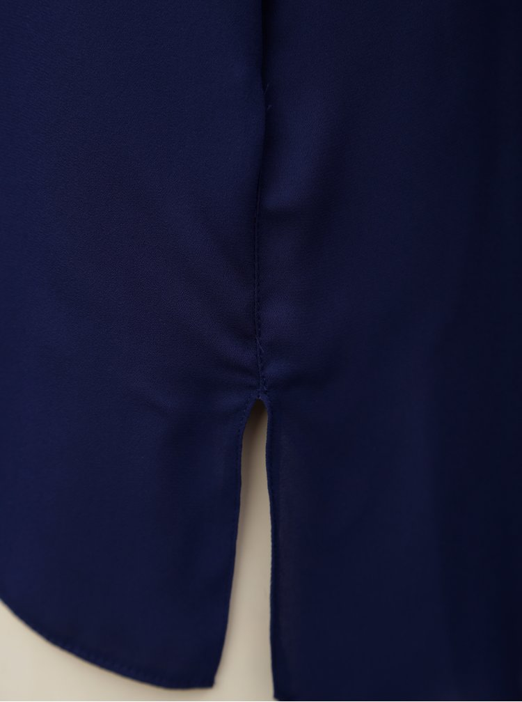 Tmavomodrá blúzka bez rukávov Dorothy Perkins Petite