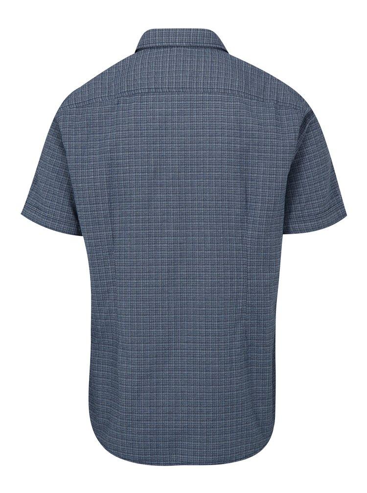 Modrá pánská kostkovaná slim fit košile s.Oliver