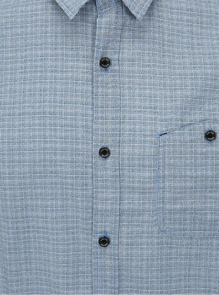Světle modrá pánská kostkovaná slim fit košile s.Oliver