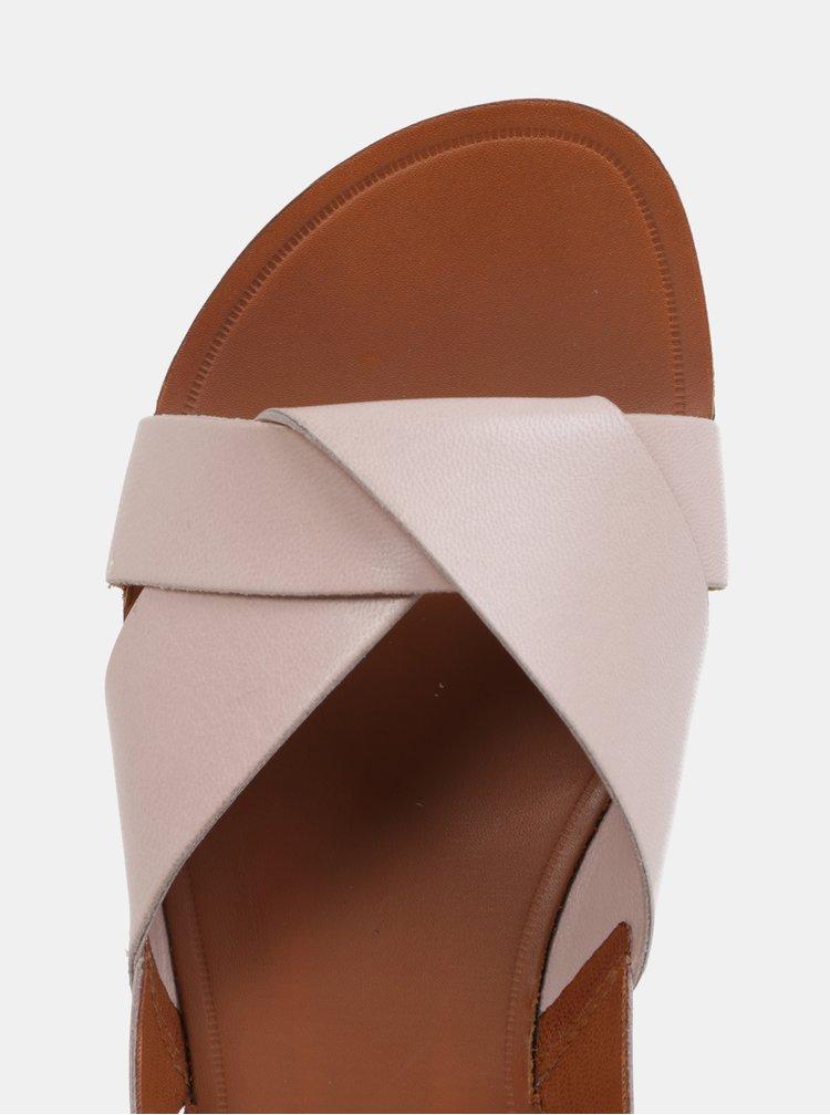 Světle růžové dámské kožené sandály Vagabond Tia