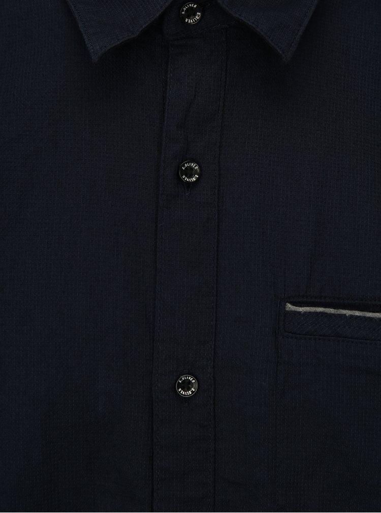 Tmavě modrá pánská regular fit košile s.Oliver