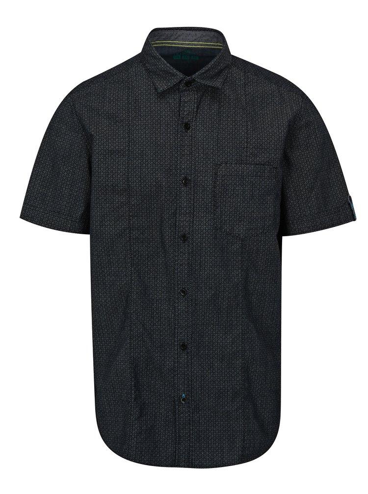 Camasa  barbateasca gri-negru slim fit cu model s.Oliver