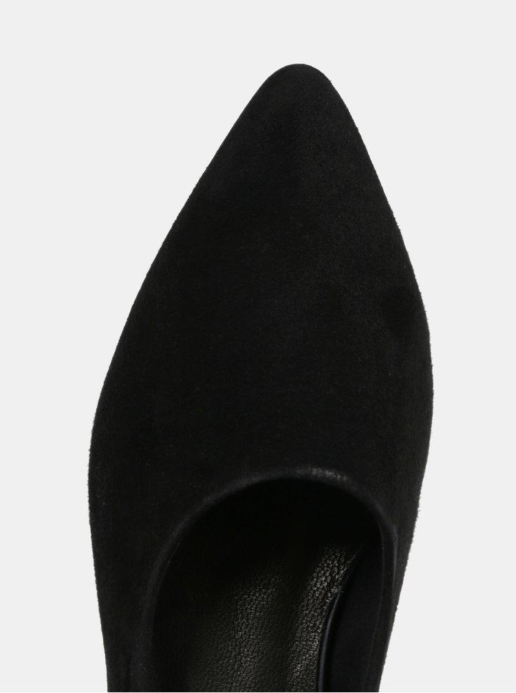 Černé dámské semišové baleríny s otevřenou patou Vagabond Katlin