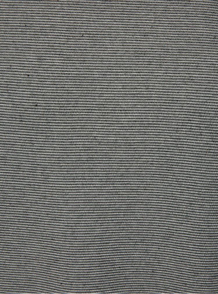 Šedé pánské pruhované  tričko s dlouhým rukávem s.Oliver