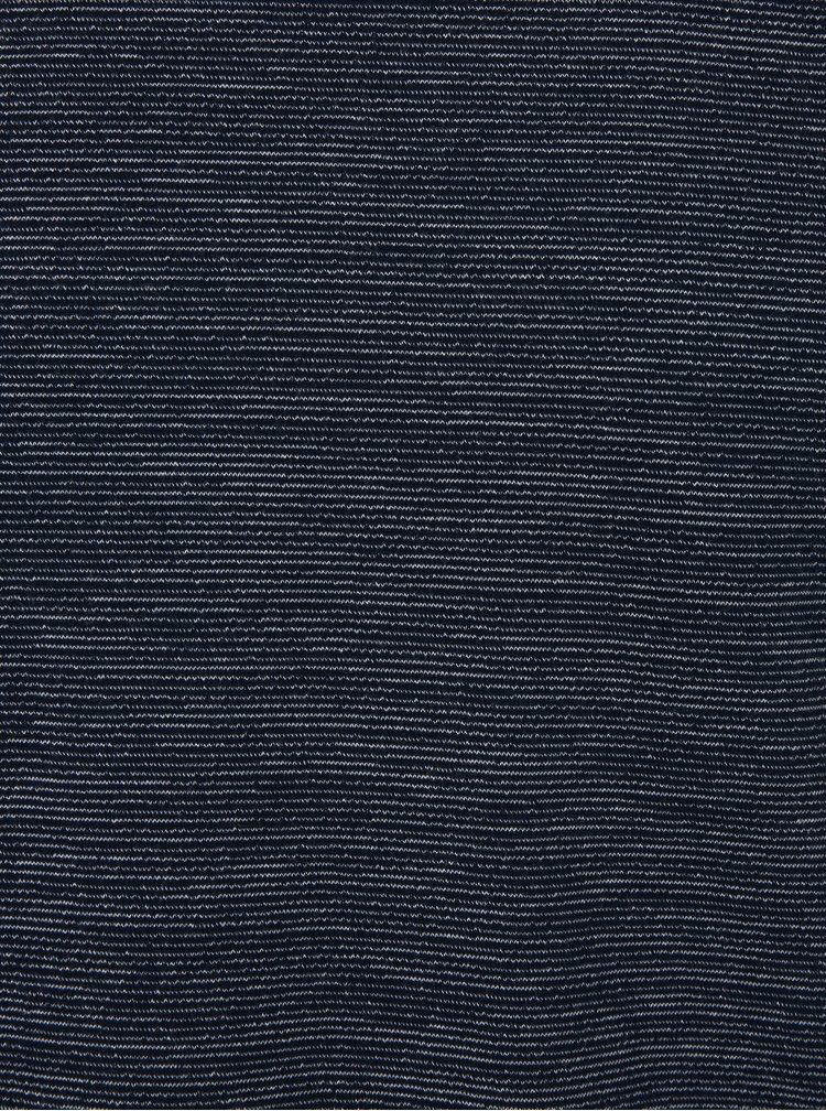 Tmavě modré pánské pruhované tričko s dlouhým rukávem s.Oliver