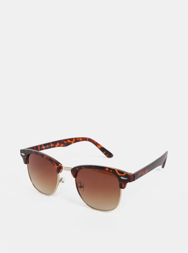 Hnědé sluneční brýle s obroučky ve zlaté barvě ONLY & SONS Display
