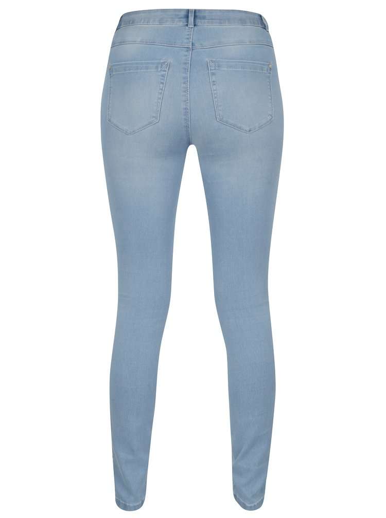 Světle modré skinny džíny s vysokým pasem ONLY Royal
