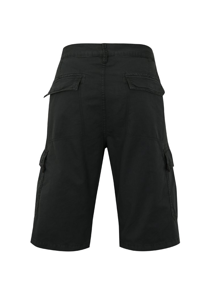 Pantaloni barbatesti scurti gri inchis loose fit cu buzunare s.Oliver