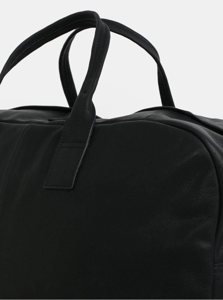 Černá kožená cestovní taška Vagabond Torino