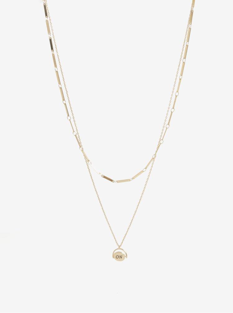 Sada dvou náhrdelníků ve zlaté barvě Pieces Johanna