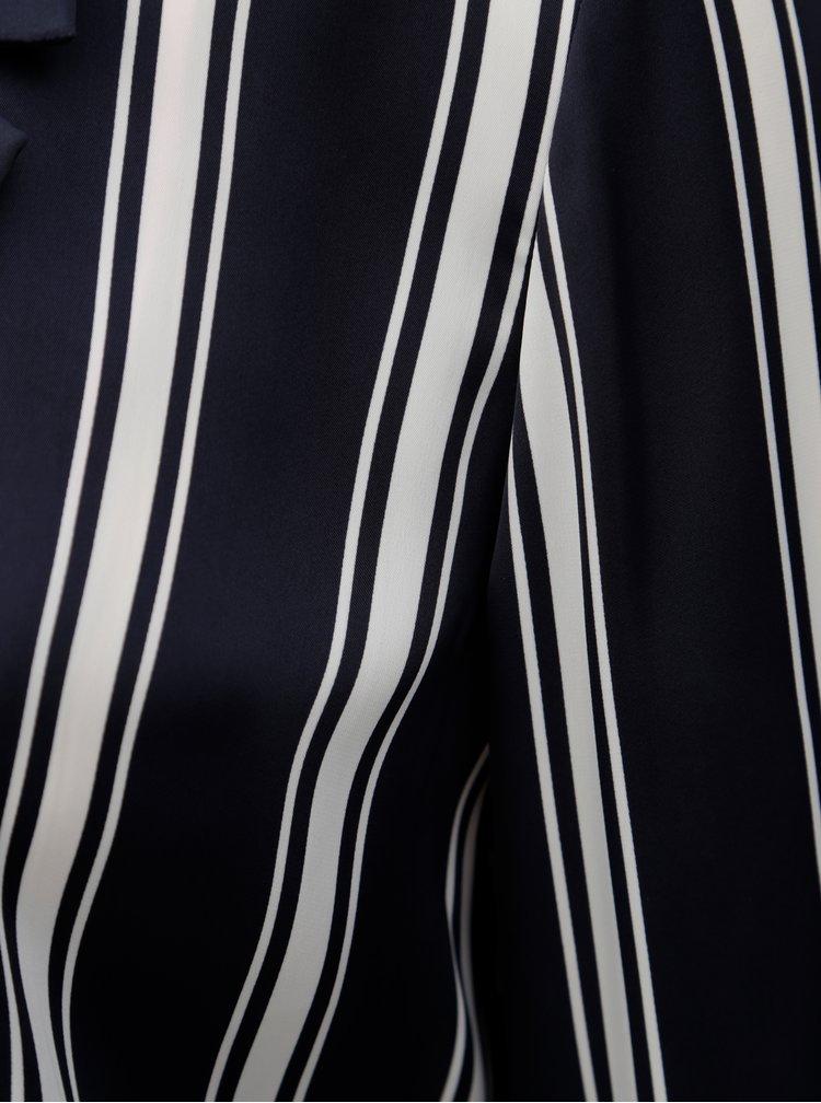 Tmavě modré pruhované sako Rich & Royal