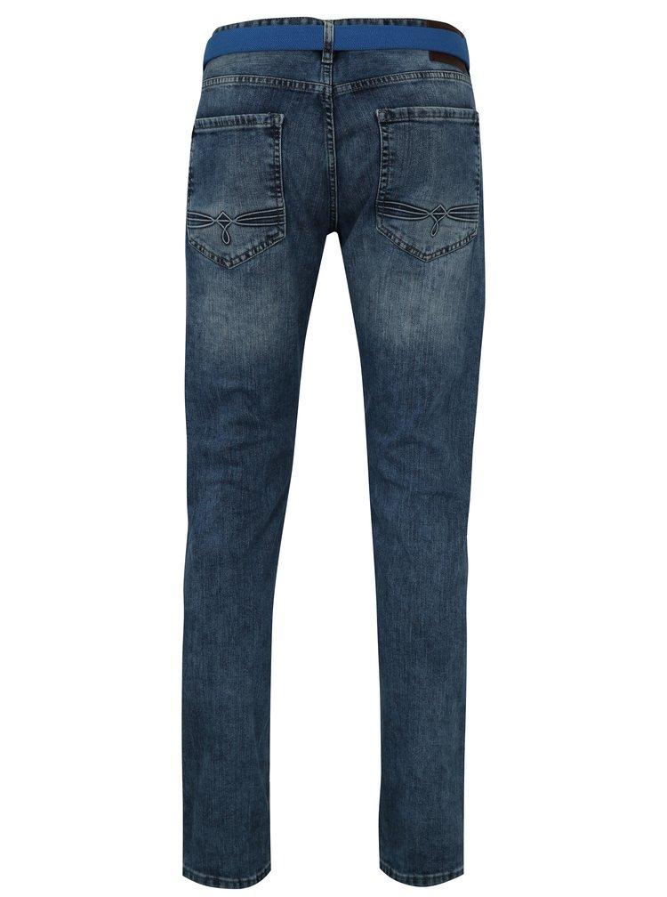 Modré pánské slim džíny s potrhaným efektem s.Oliver
