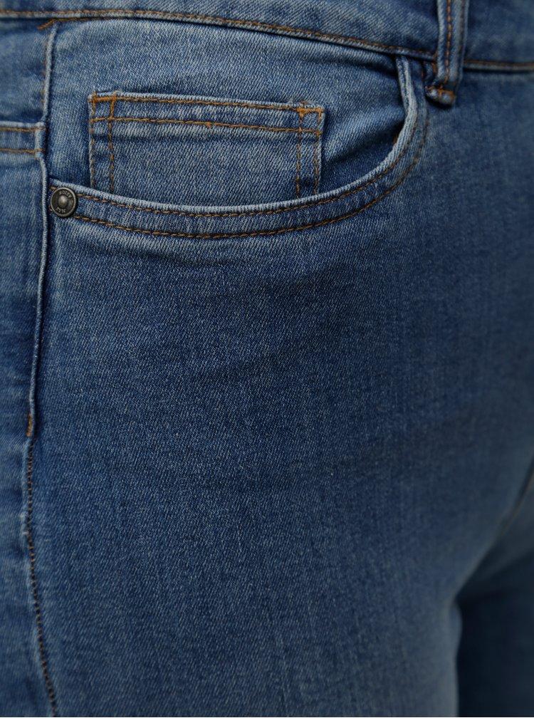 Modré skinny džíny s vysokým pasem a potrhaným efektem Noisy May Lexi