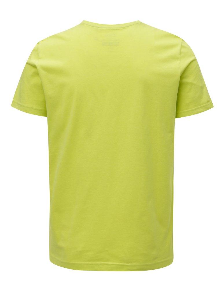 Tricou barbatesc verde deschis cu print s.Oliver