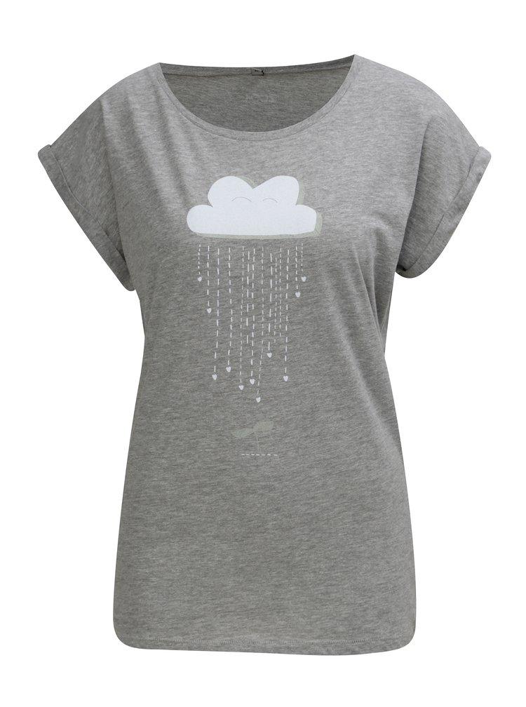 Šedé těhotenské tričko ZOOT Originál Mrak