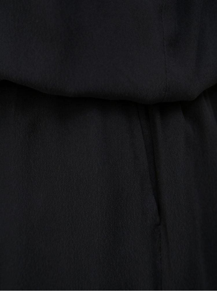 Černý overal bez rukávů Selected Femme Delia