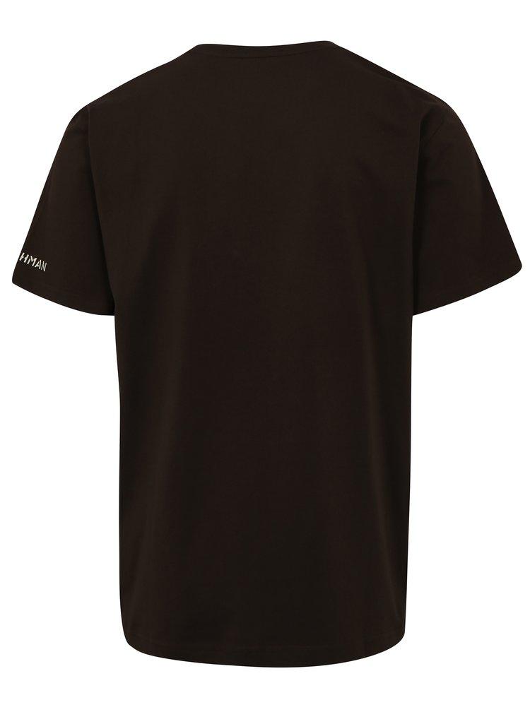 Tmavě hnědé pánské tričko BUSHMAN Brady