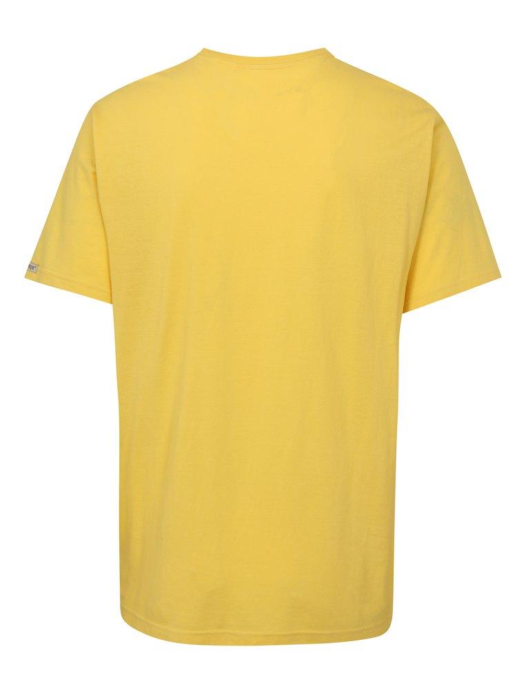 Žluté pánské tričko s potiskem BUSHMAN Cornhill