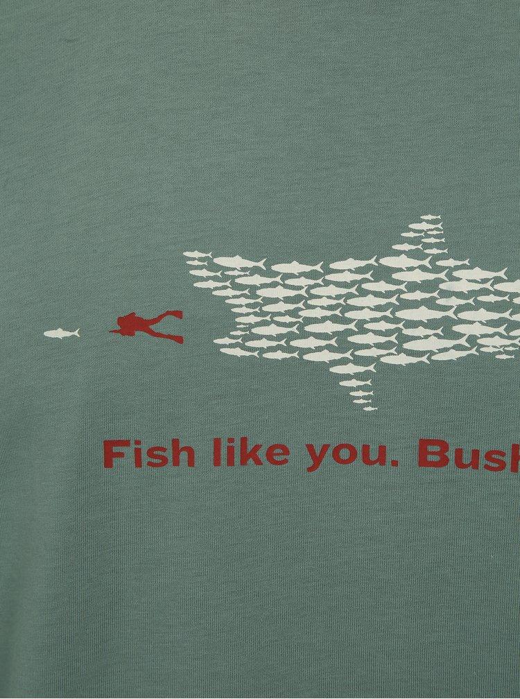 Zelené pánské tričko s potiskem BUSHMAN Wickham