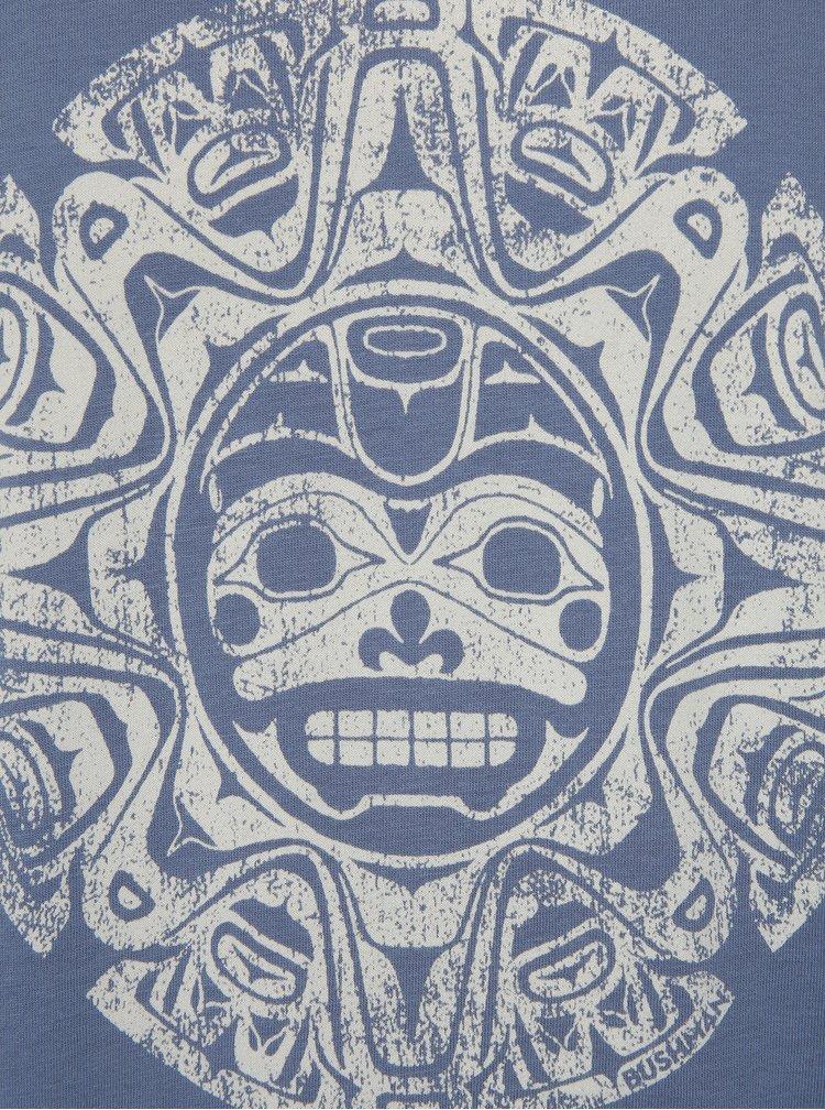 Modré pánské tričko s potiskem BUSHMAN Function