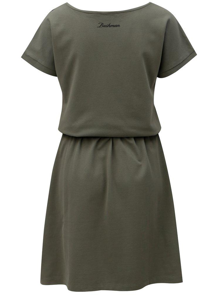 Tmavě zelené pruhované šaty BUSHMAN Genoa