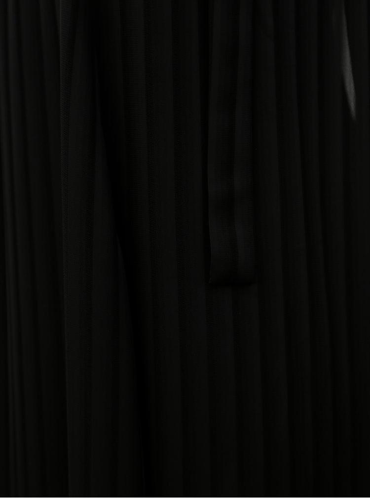 Černé pruhované maxišaty THAÏS & STRÖE