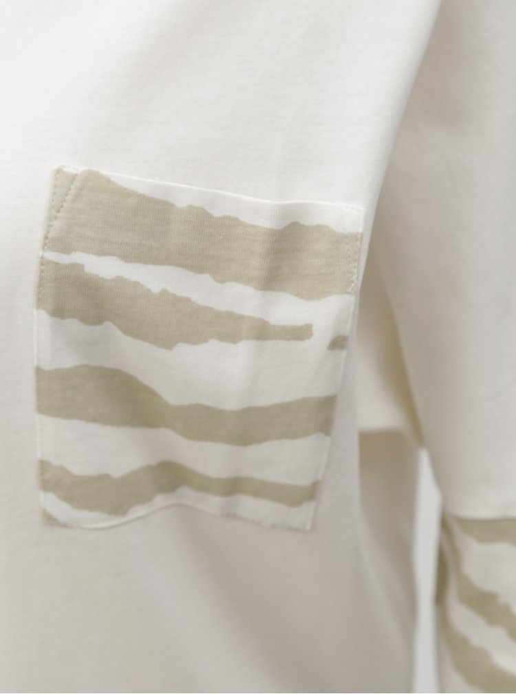 Krémové dámské oversize tričko BUSHMAN Miranda II