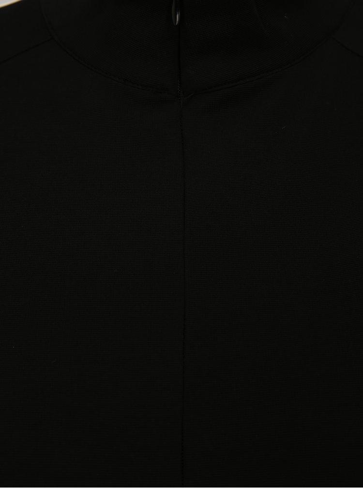 Černá volná mikina přes hlavu s bílými pruhy Moss Copenhagen Seely