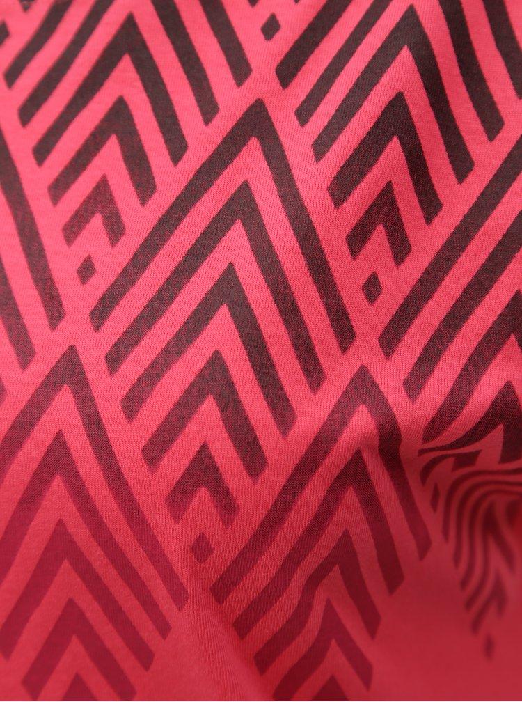 Růžové dámské tričko s potiskem BUSHMAN Cala
