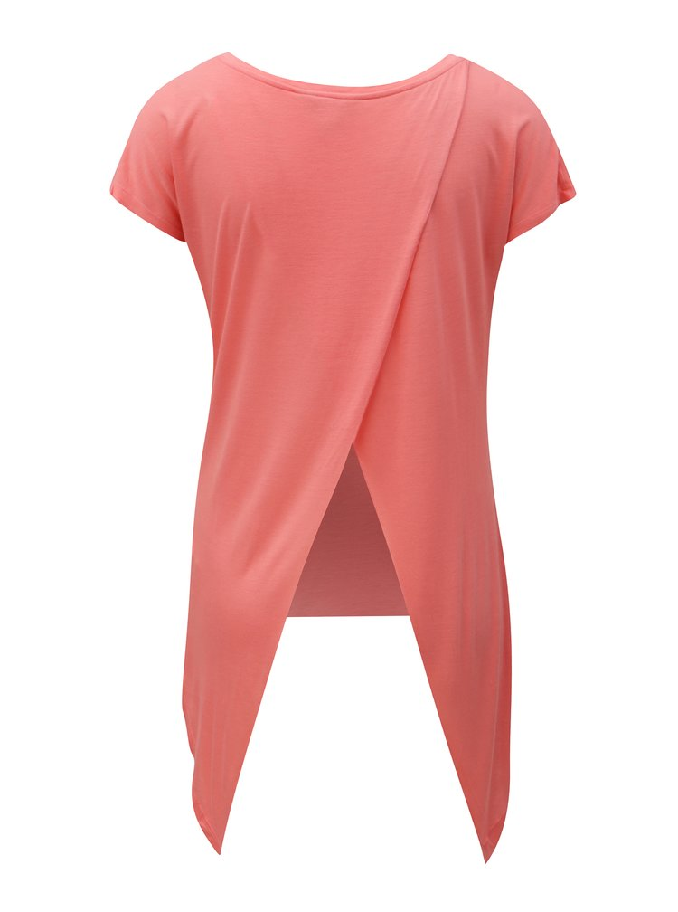 Tricou de dama corai cu spate suprapus BUSHMAN Fruita