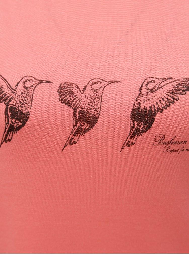 Korálové dámské tričko s překládanými zády BUSHMAN Fruita