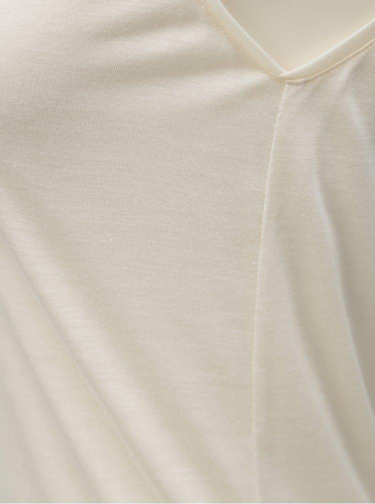 Krémové dámské tílko s potiskem na zádech BUSHMAN Shannon