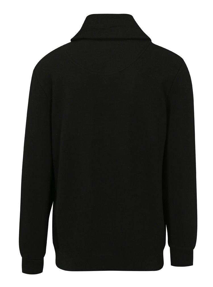 Pulover negru cu guler pentru barbati JP 1880