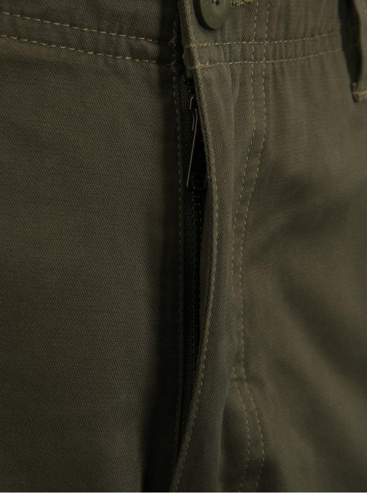 Kaki pánske kraťasy s vreckami BUSHMAN Dabney