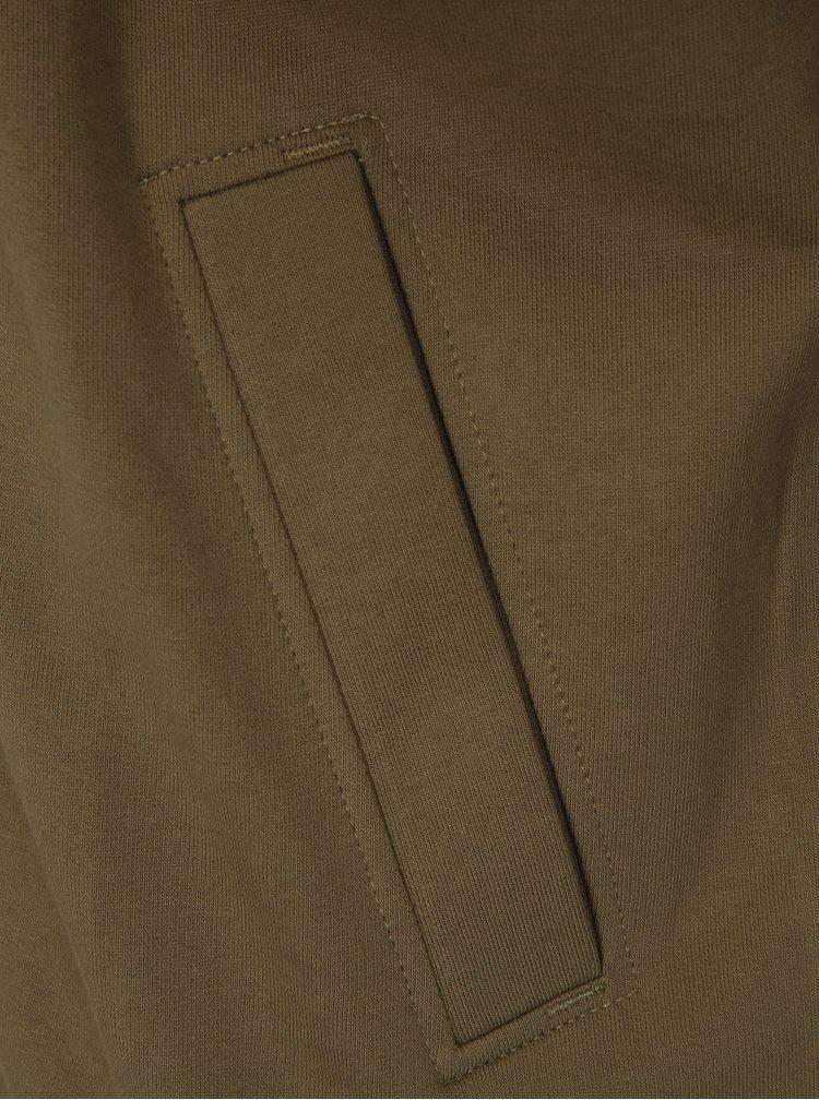 Khaki pánská mikina na zip BUSHMAN Welsh II
