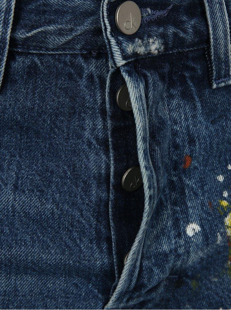 Modré pánské džíny s potiskem Calvin Klein Jeans
