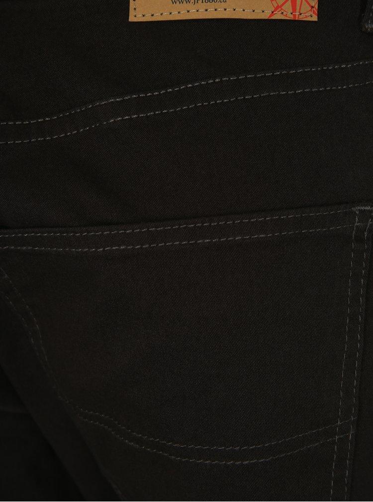 Tmavě šedé regular fit kalhoty JP 1880
