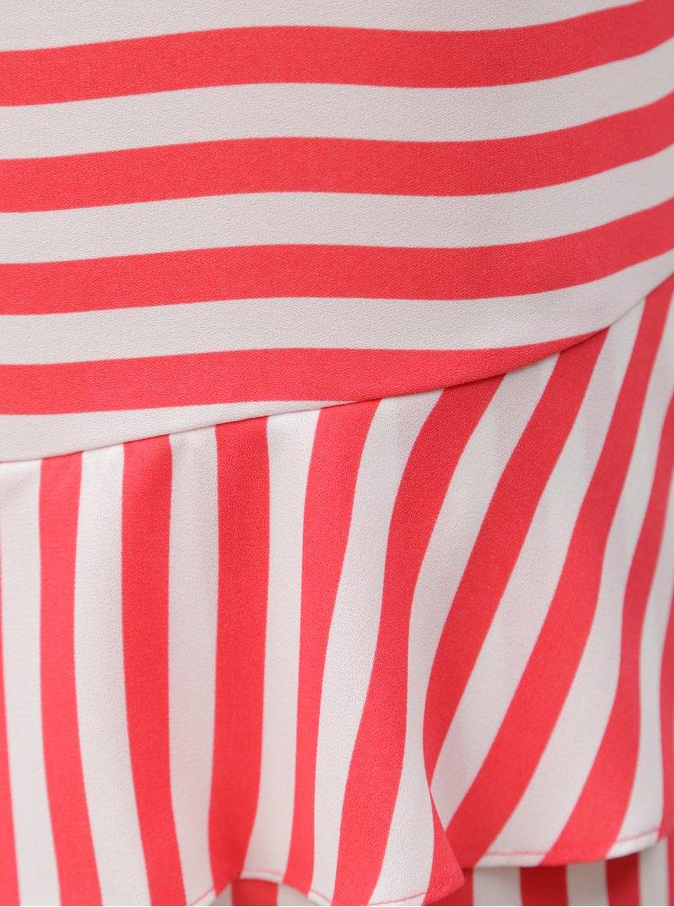 Bílo-růžové pruhované tílko Nautica