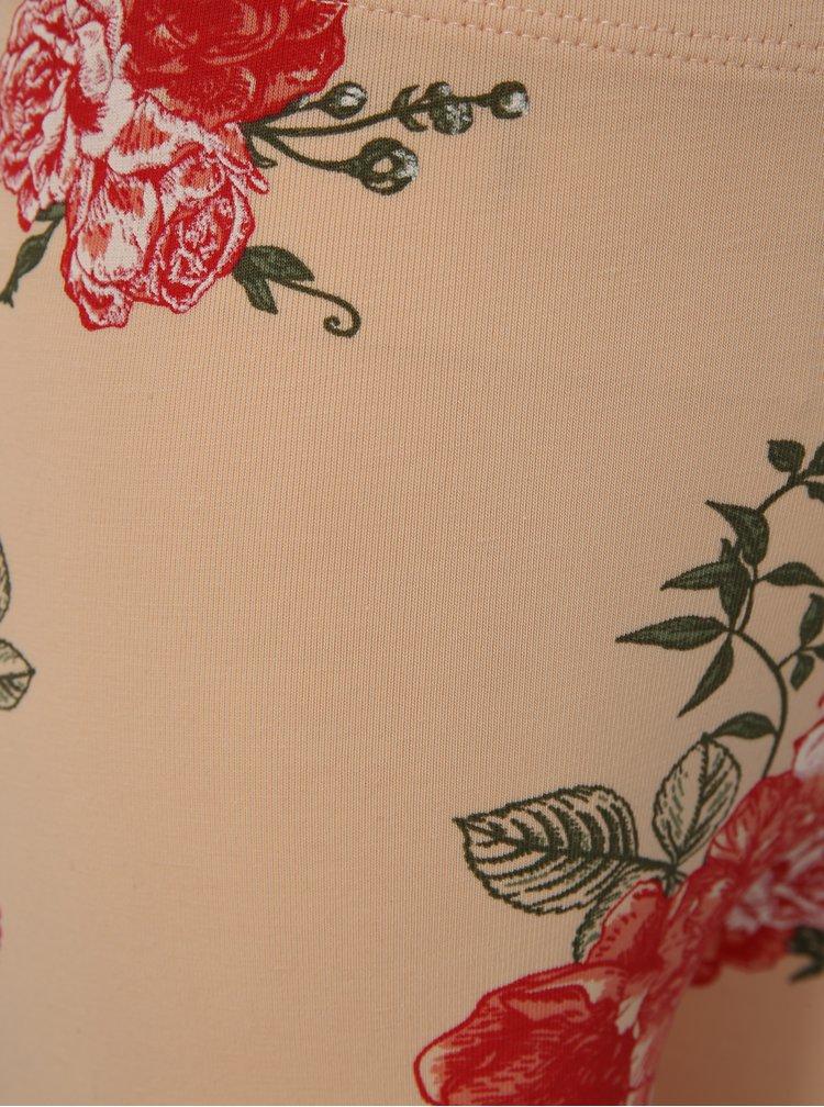 Meruňkové holčičí květované legíny name it Vigga