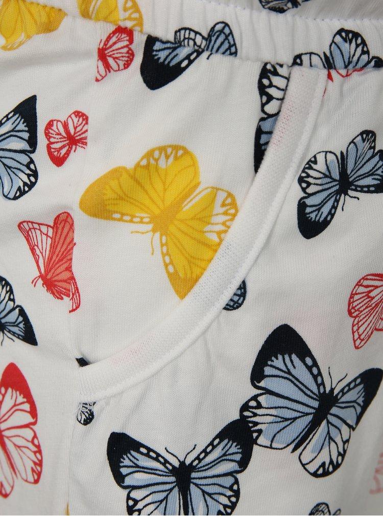 Biely dievčenský overal s motívom motýľov name it Vigga