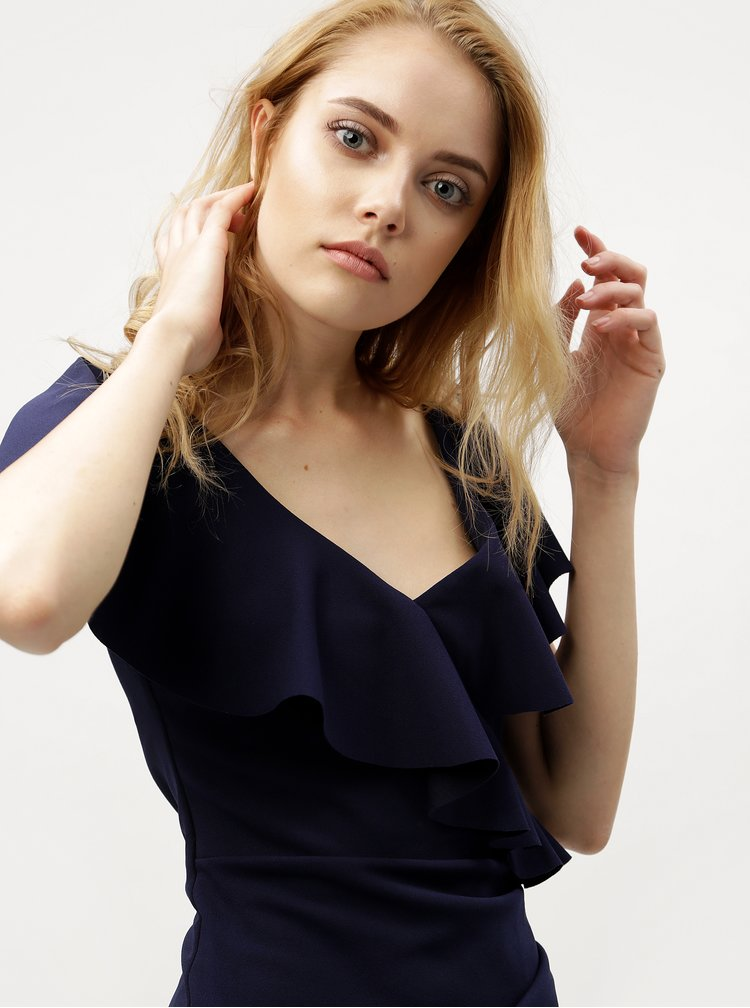 Tmavomodré šaty s volánmi ZOOT