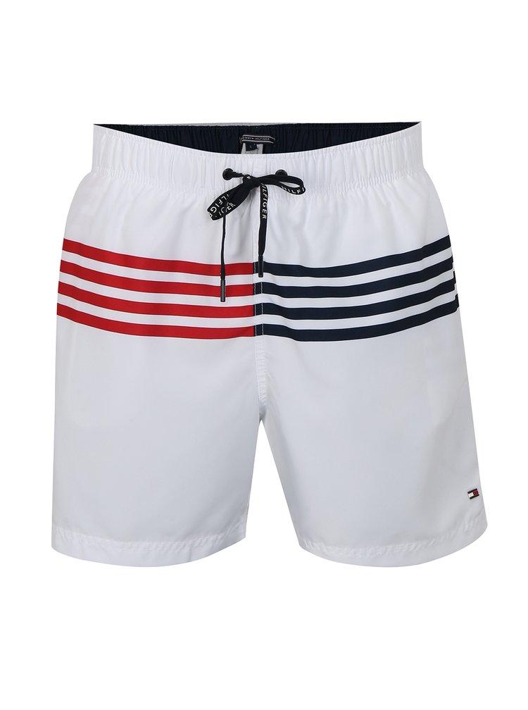 Pantaloni scurti de baie albi Tommy Hilfiger