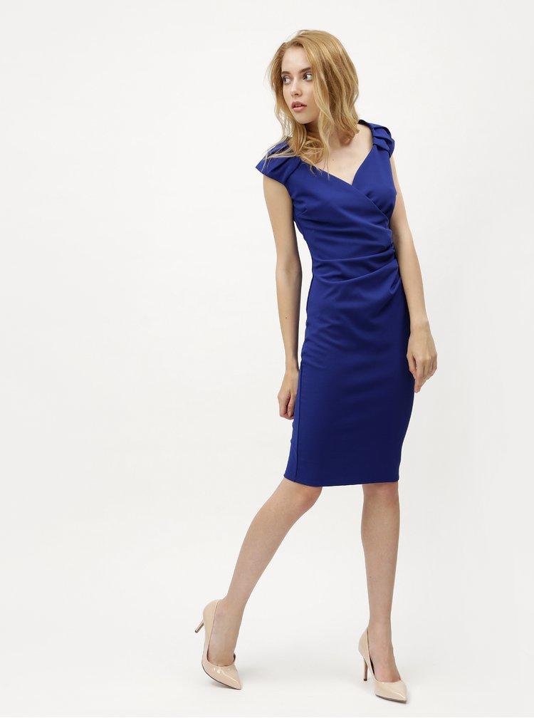 Modré šaty s překládaným výstřihem ZOOT