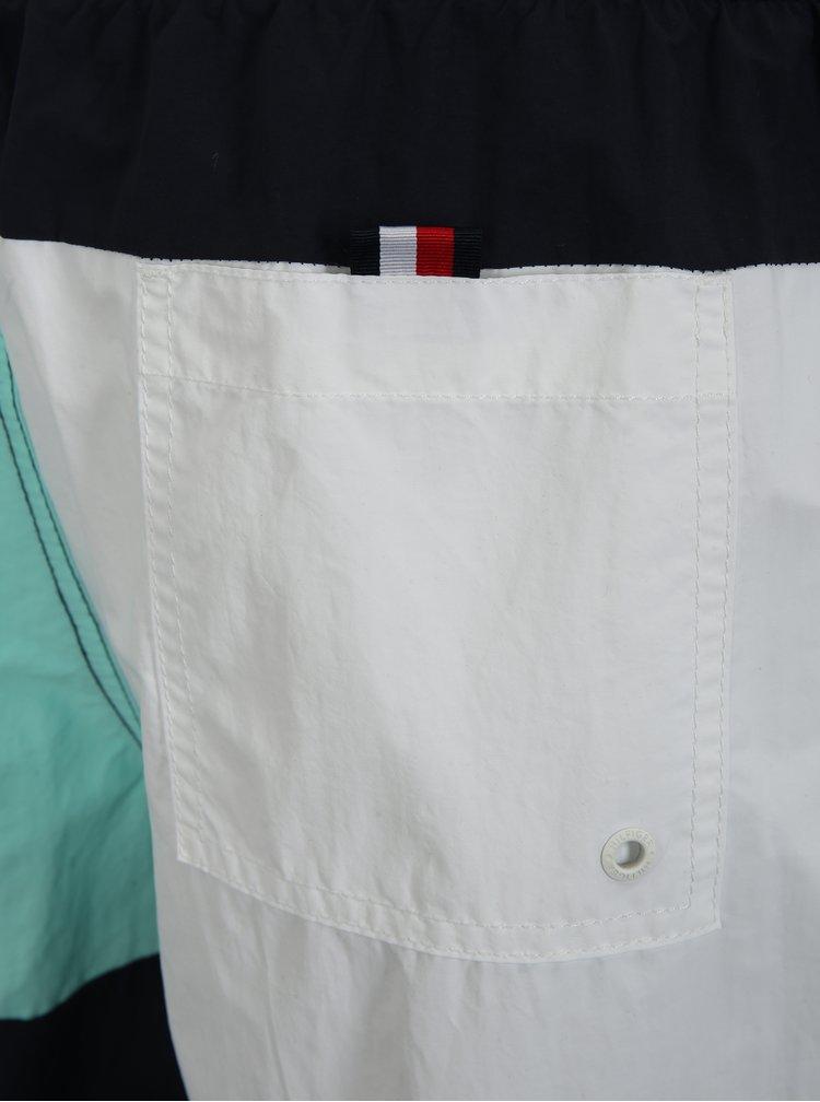 Bílo-modré pánské plavky Tommy Hilfiger