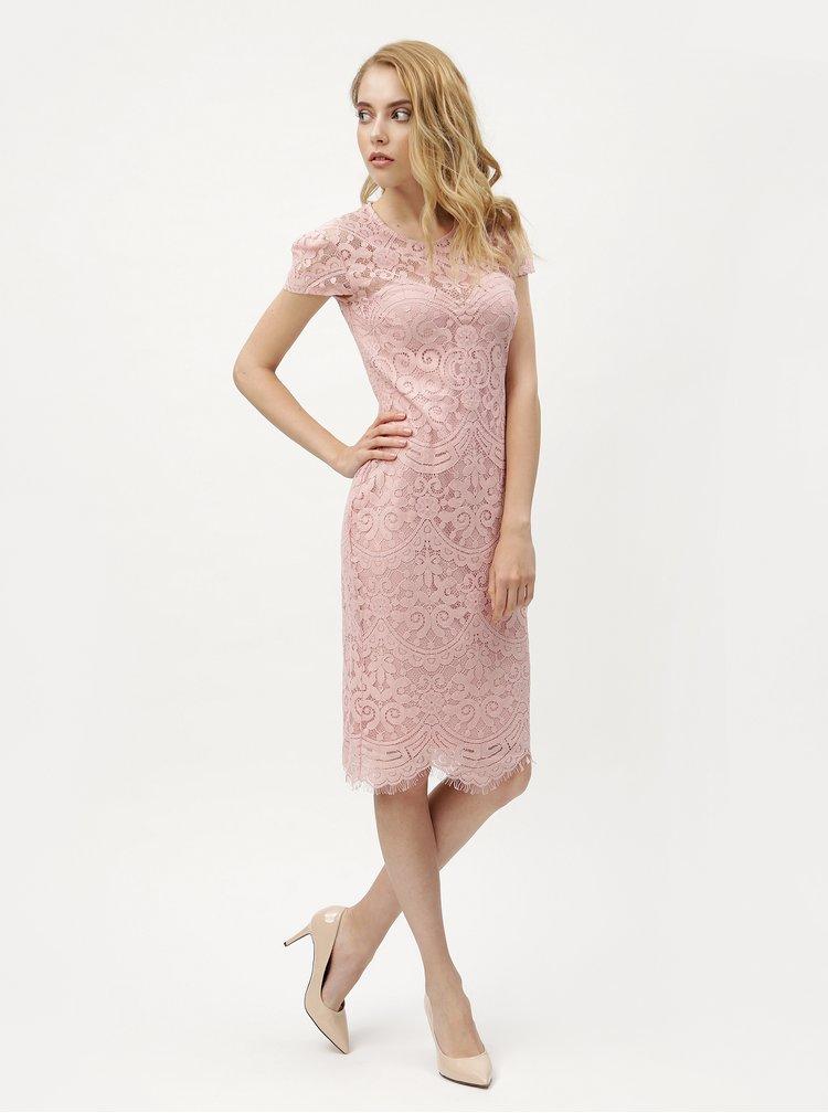 Rochie roz deschis din dantela ZOOT