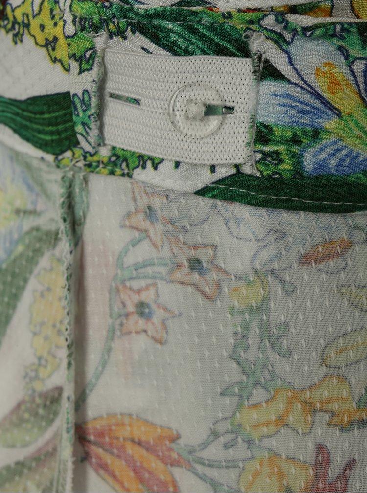 Zeleno-bílá květovaná sukně s volány name it Jessie