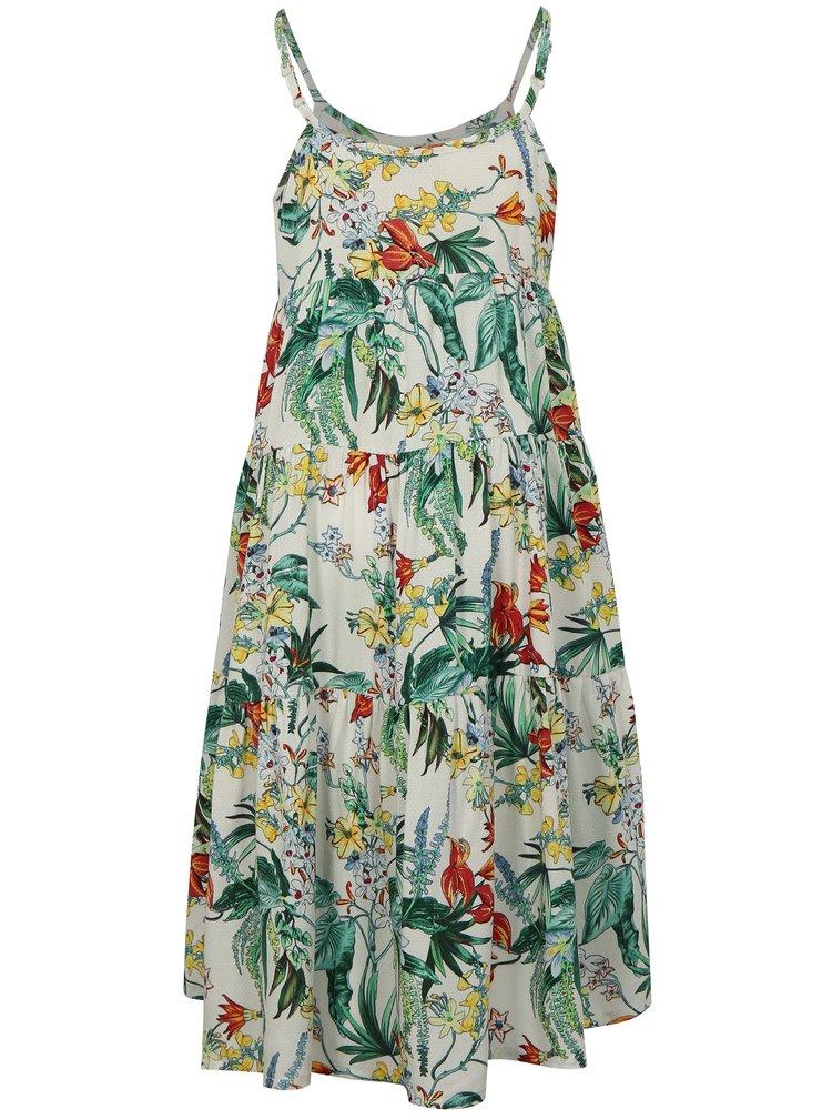 Zeleno-bílé holčičí květované šaty name it Jessie