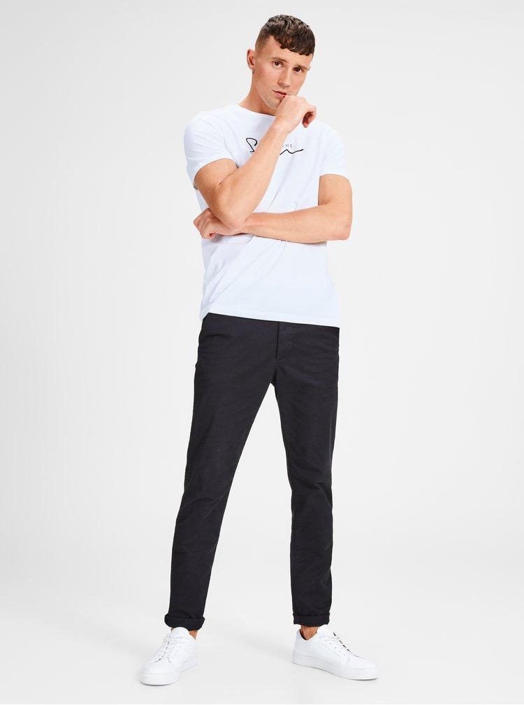 Bílé tričko s potiskem Jack & Jones Lilas