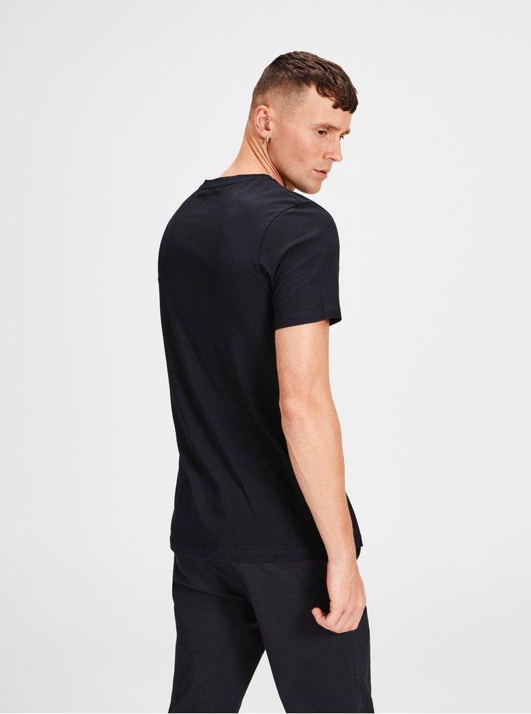 Černé tričko s potiskem Jack & Jones Lilas