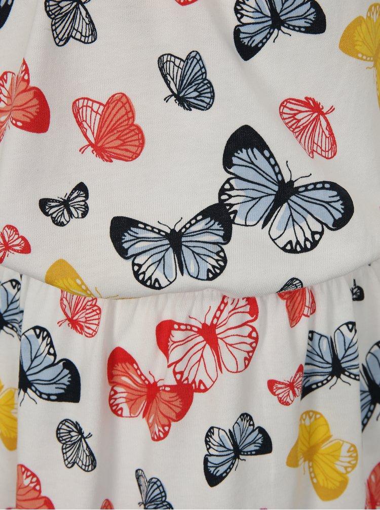 Bílé holčičí šaty s motivem motýlů name it Vigga